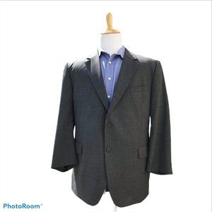 JOS A BANK 48R Gray Wool Lightweight 2 Button